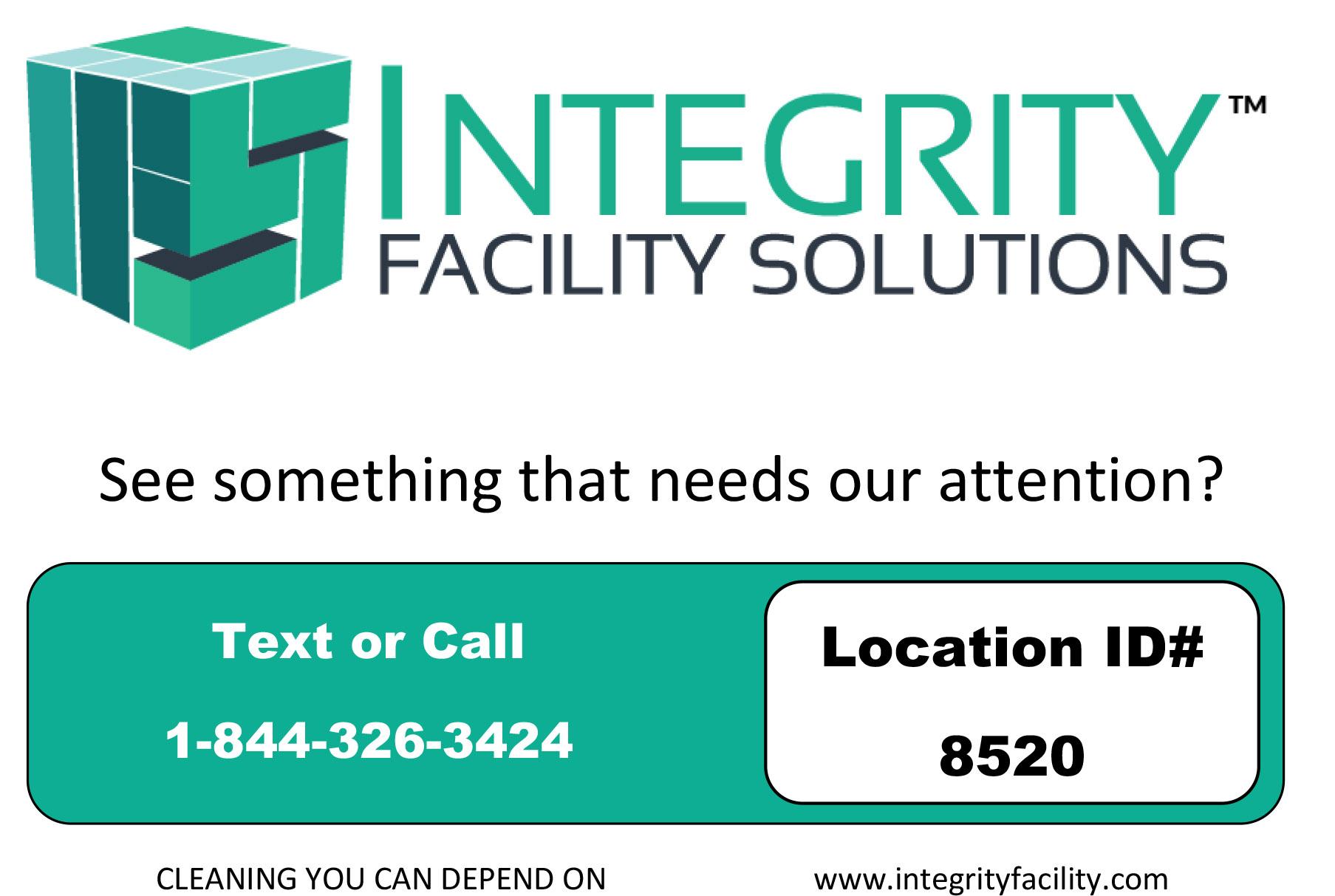 Integrity Facility Solutions Survey Plaque